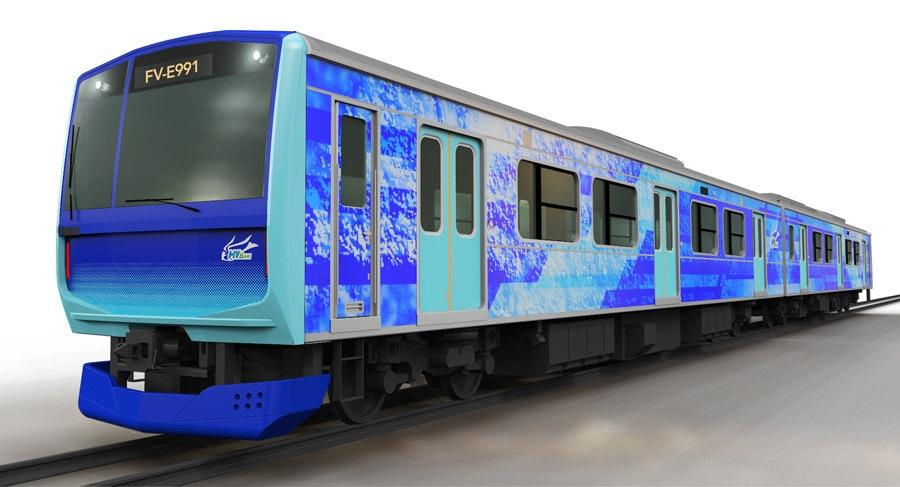 照片中提到了FV-E991,跟維科有關,包含了jr東日本、培養、東日本鐵路公司、鐵路交通、日本鐵路集團