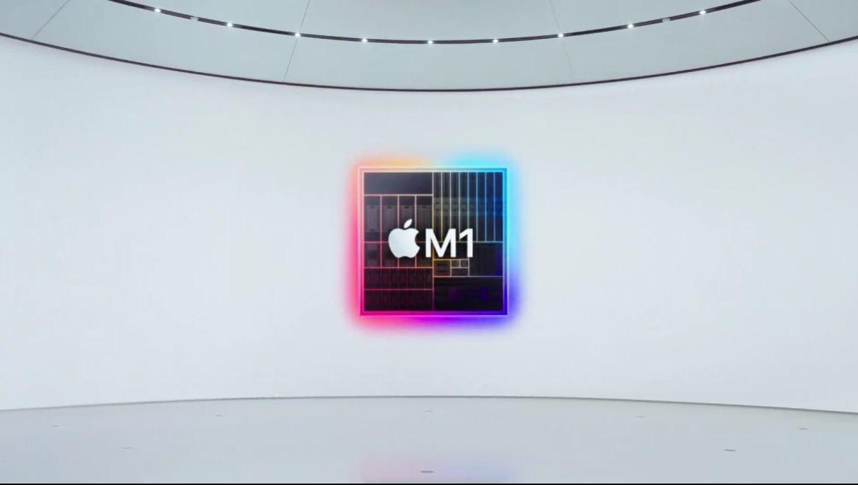 照片中提到了M1,跟蘋果公司。有關,包含了設計、平面設計、產品設計、牌、紫色