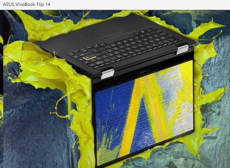 華碩公布採納 Tiger Lake 平台二合一筆電 VivoBook Flip 14 TP470EZ ,強調為全球首款搭載 Intel 獨立 GPU 機種