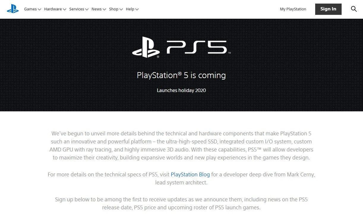 照片中提到了Games v Hardware v Services v News v Shop v Help v、My PlayStation、Sign In,跟的PlayStation有關,包含了的PlayStation 4、商標、牌、產品設計、字形