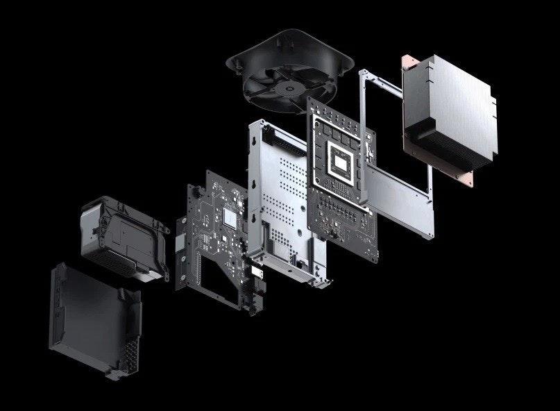 照片中跟Square,Inc.有關,包含了Xbox系列X、Xbox One、Xbox系列X、的PlayStation 5、微軟