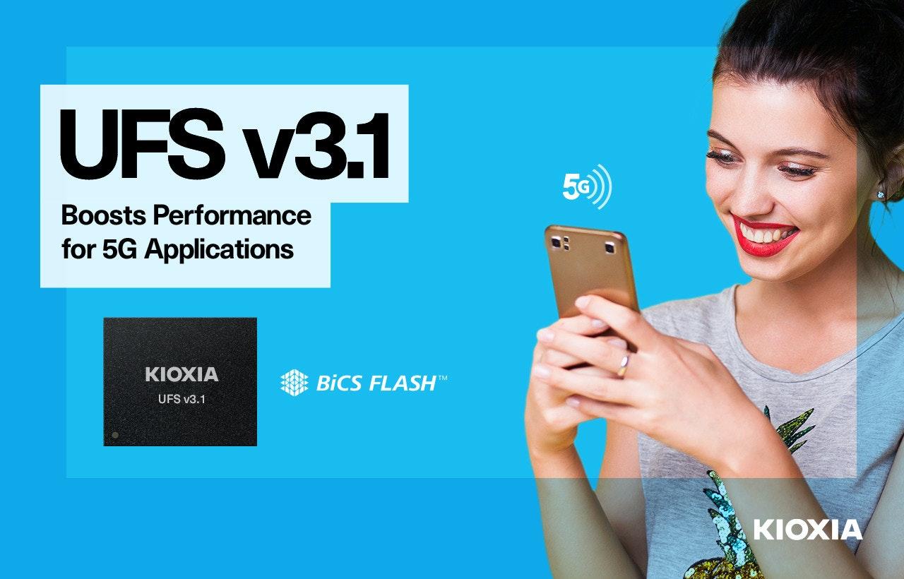 照片中提到了UFS v3.1、50)、Boosts Performance,跟KDKA電視、Belgacom ICS有關,包含了在線廣告、通用閃存、快閃記憶體、移動電話、電腦