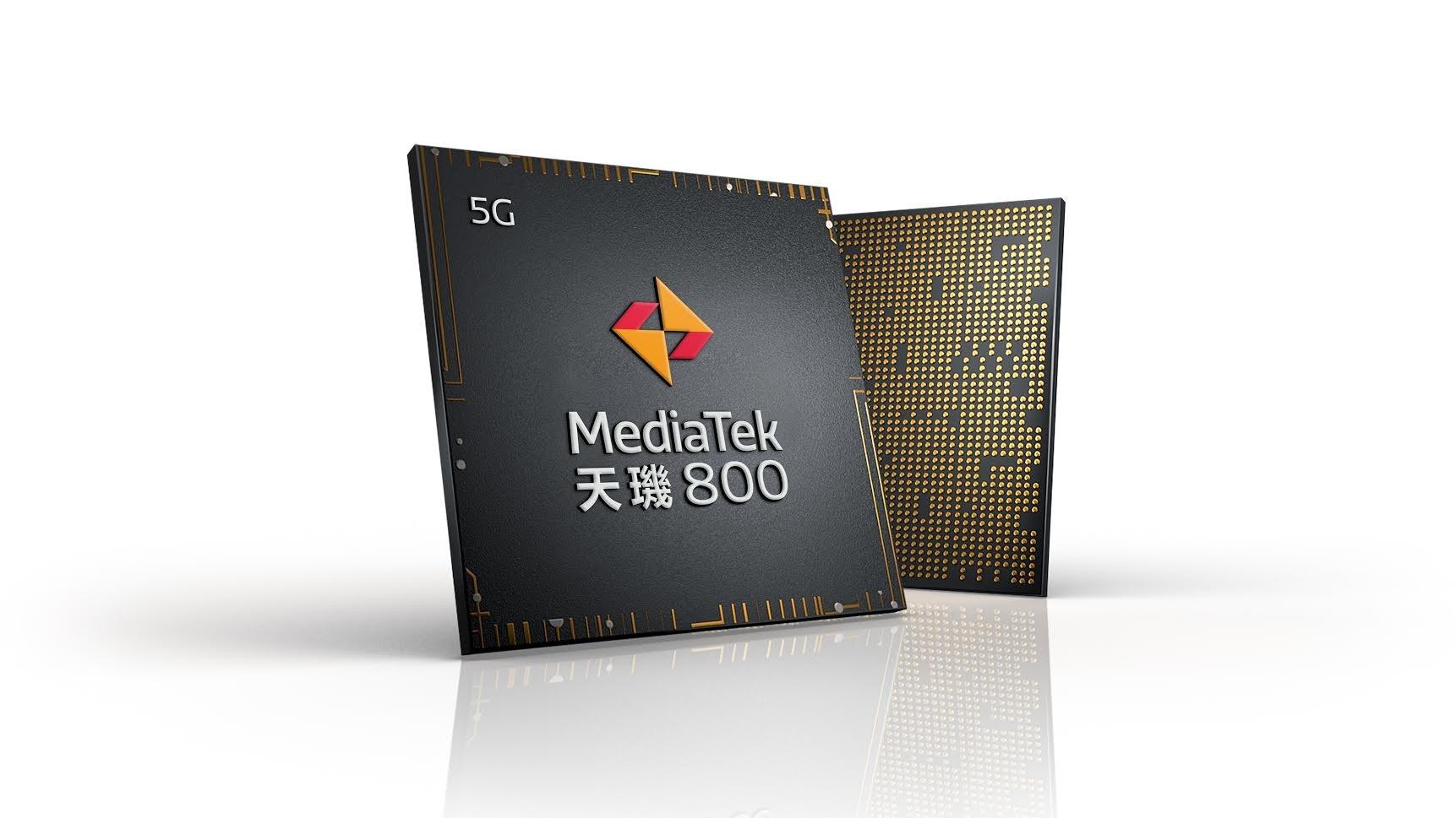 照片中提到了5G、MediaTek、天瑞800,跟歐洲化學、聯發科有關,包含了天璣1000、移動電話、片上系統、7納米