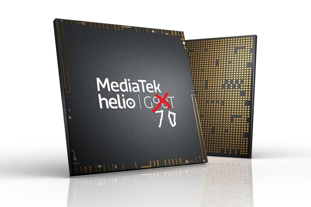 照片中提到了MediaTek、helio GoT、70,包含了聯發科、聯發科技曦力、高通金魚草、高通公司、中央處理器