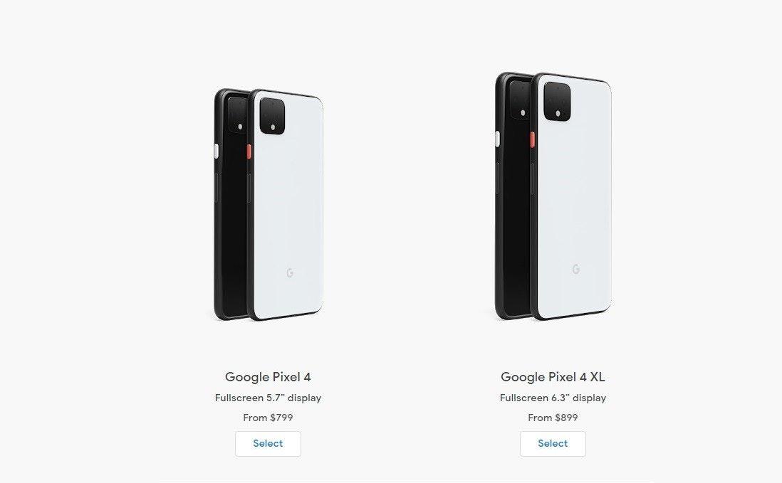 """照片中提到了Google Pixel 4、Google Pixel 4 XL、Fullscreen 5.7"""" display,包含了像素4、谷歌像素4、Google Pixel 4 XL、像素3a、Google Pixel"""