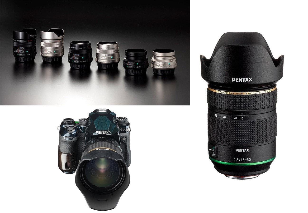 照片中提到了PENTAX、HD PENTAX-DA 1:2.8 16-50mm ED PLM AW、20 16,包含了數碼單反、單反相機、單反相機、鏡頭、賓得