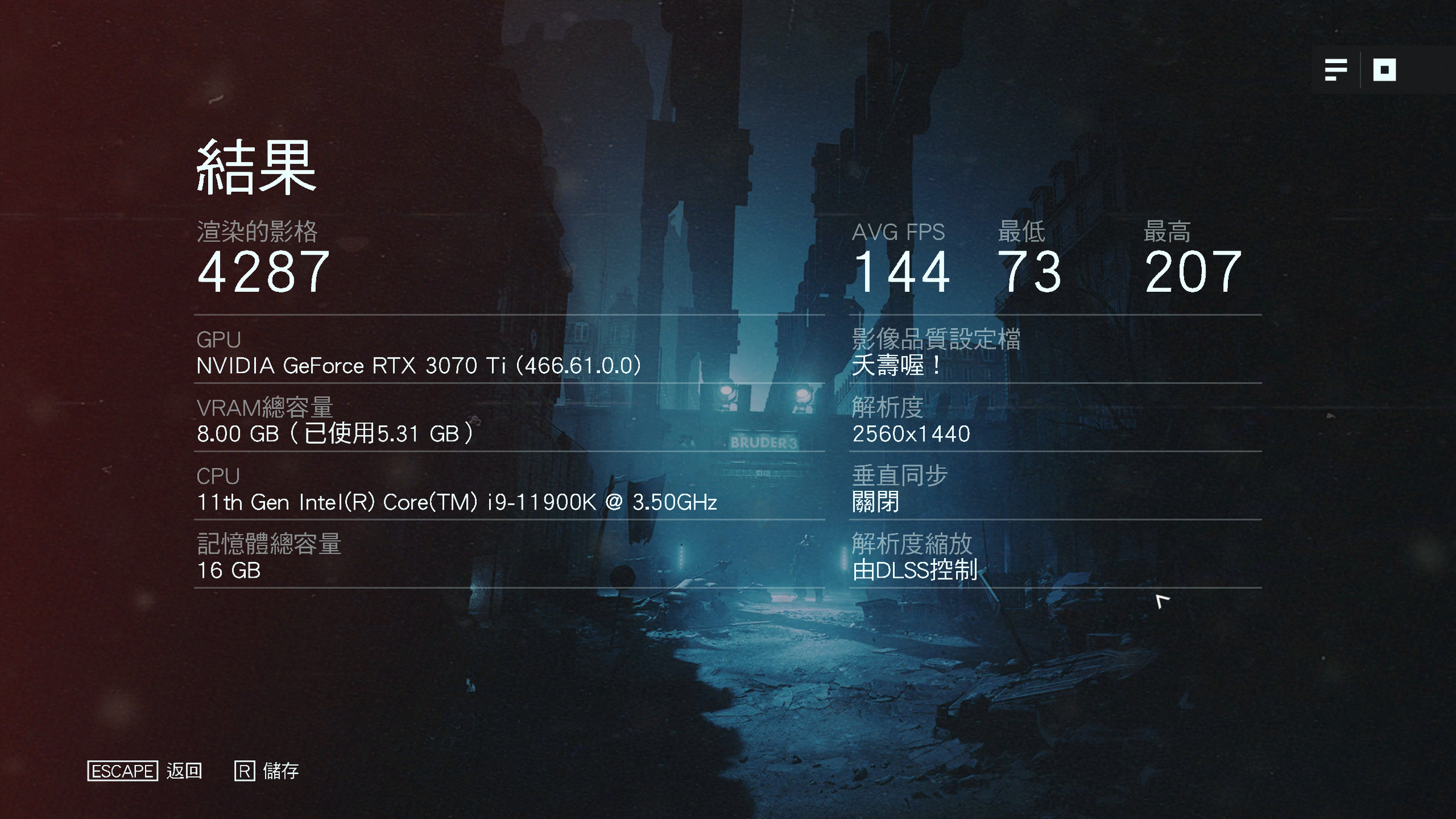 The results, rendered frames, AVG FPS are mentioned in the photo, including NVIDIA GeForce RTX, NVIDIA GeForce RTX 3070, NVIDIA GeForce RTX 3090, NVIDIA, NVIDIA
