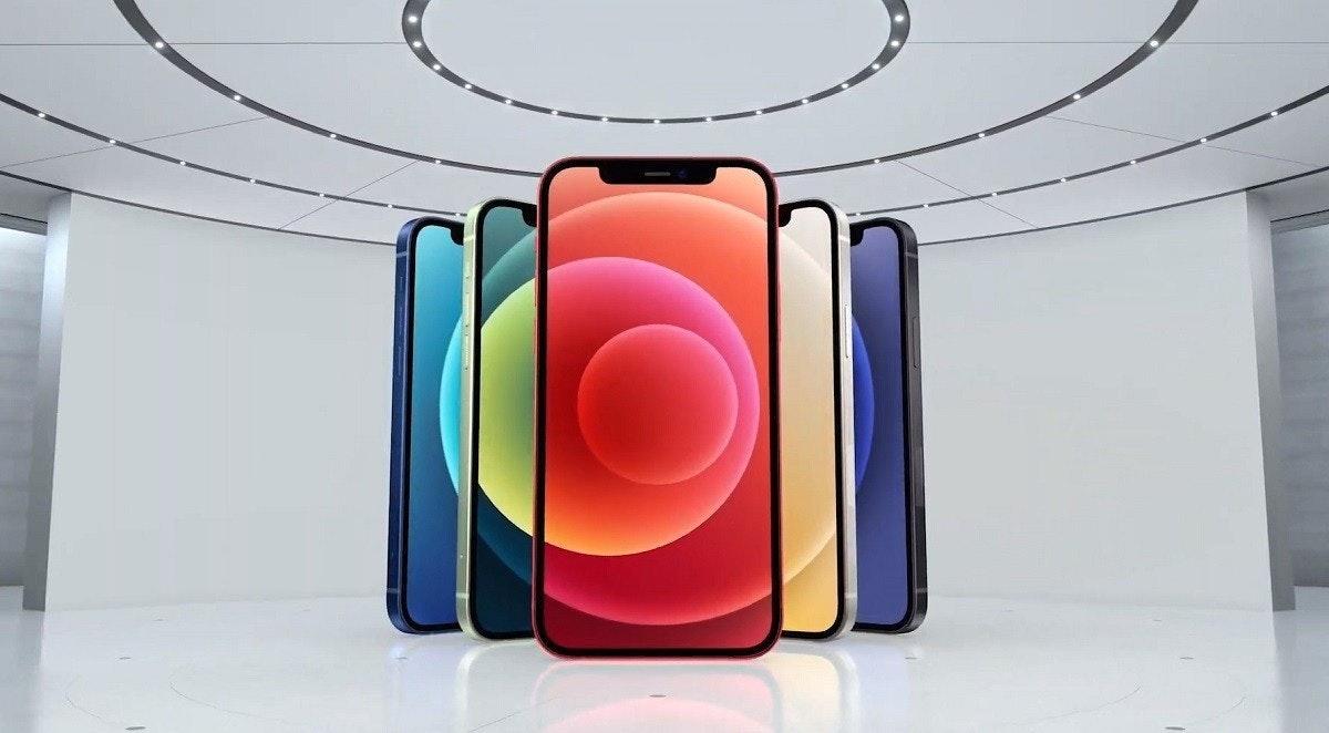 照片中包含了iPhone 12 Mini顏色、iPhone 12迷你、蘋果iPhone 12 Pro Max、蘋果iPhone 12 Pro、蘋果
