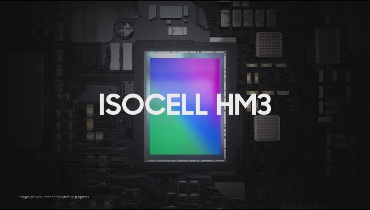 照片中提到了ISOCELL HM3、Images are simulated for illustrative purposes.,包含了土耳其電視、顯示裝置、牆紙、小工具、光
