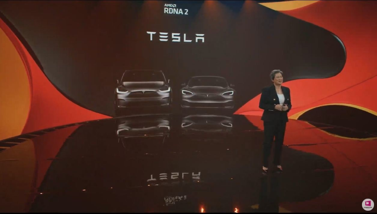 照片中提到了AMDA、RDNA 2、TESLA,跟特斯拉公司、卡瑪茲有關,包含了特斯拉電機、汽車、汽車設計、牆紙