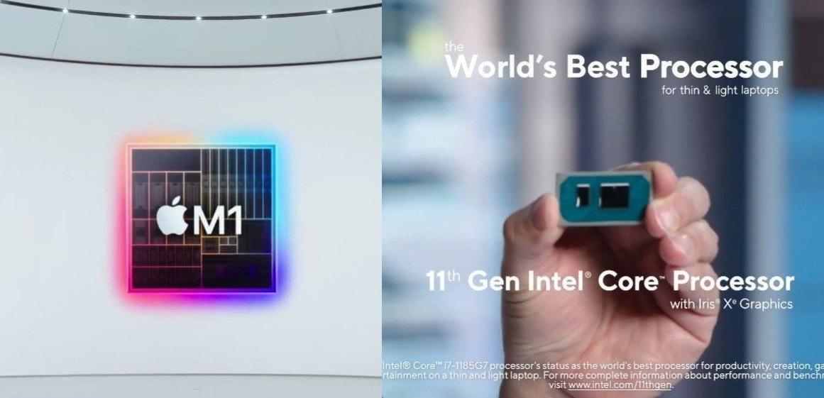 照片中提到了the、World's Best Processor、for thin & light laptops,跟iMac有關,包含了英特爾第11代、英特爾Xe、英特爾核心、老虎湖、英特爾