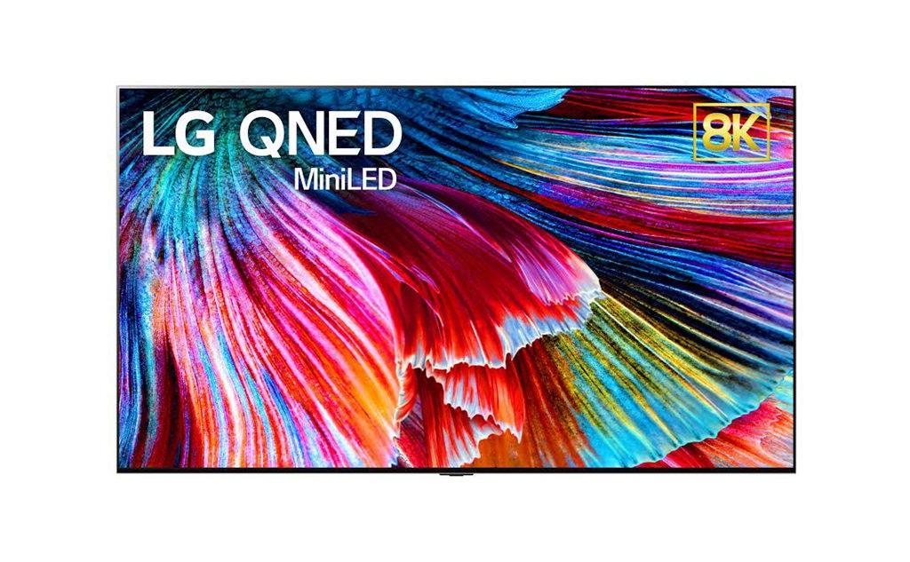 照片中提到了LG QNED、MiniLED,包含了電視機、電視機、LED背光液晶屏、LG、消費電子展