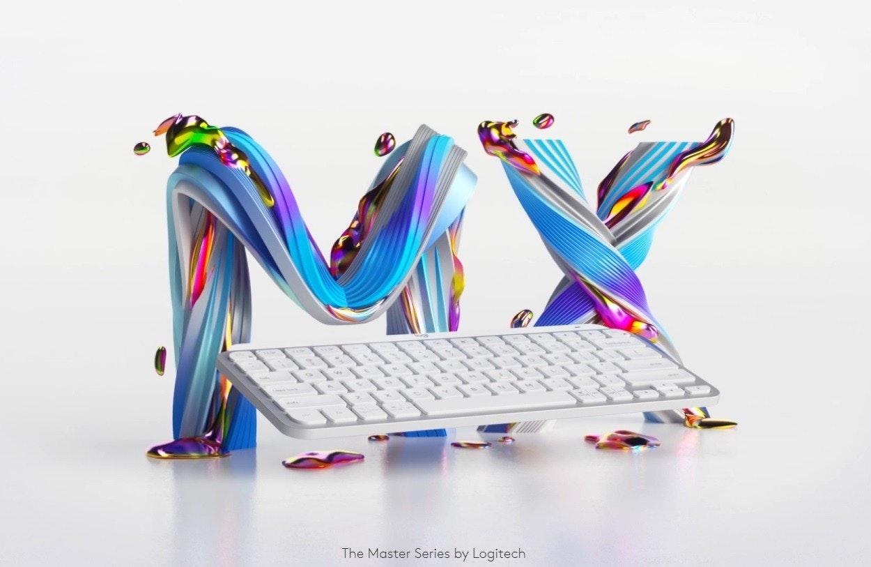 照片中提到了The Master Series by Logitech,包含了計算機鍵盤、電腦鼠標、微軟、羅技 MX 鍵、電腦硬件