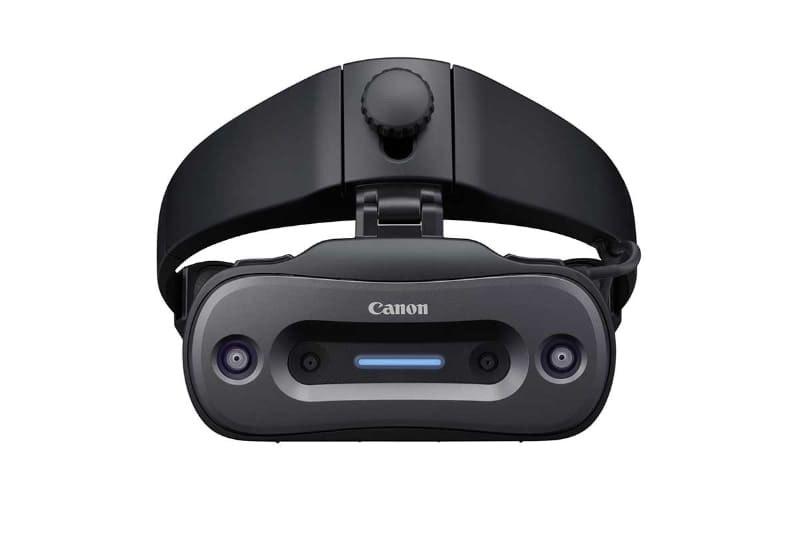 照片中提到了Canon,包含了電子產品、頭戴式顯示器、混合現實、佳能、電子產品