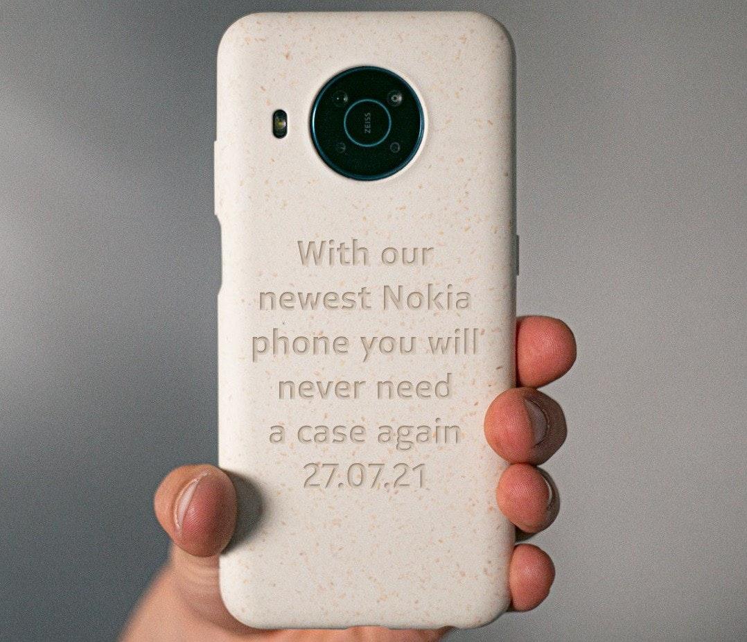 照片中提到了With our、newest Nokia、phone you will,包含了移動電話、HMD全球、諾基亞、手機、諾基亞手機系列