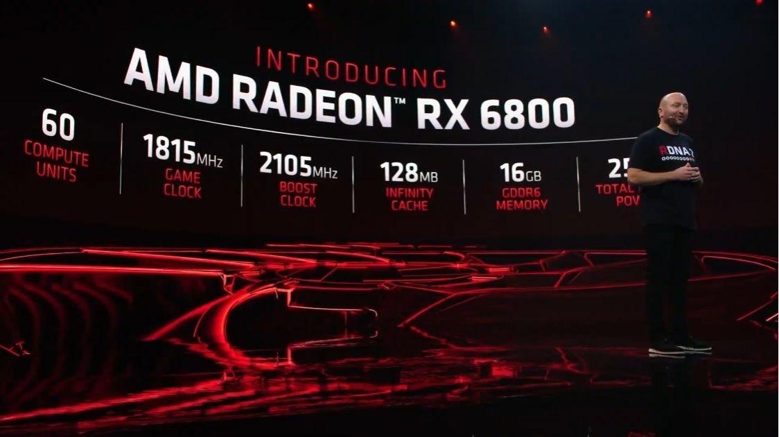 "照片中提到了INTRODUCING、AMD RADEON"" RX 6800、DNA),包含了AMD Radeon RX系列、寶麗紅魔鬼Radeon RX 6900 XT、Radeon RX 6000系列、AMD公司、Advanced Micro Devices公司"