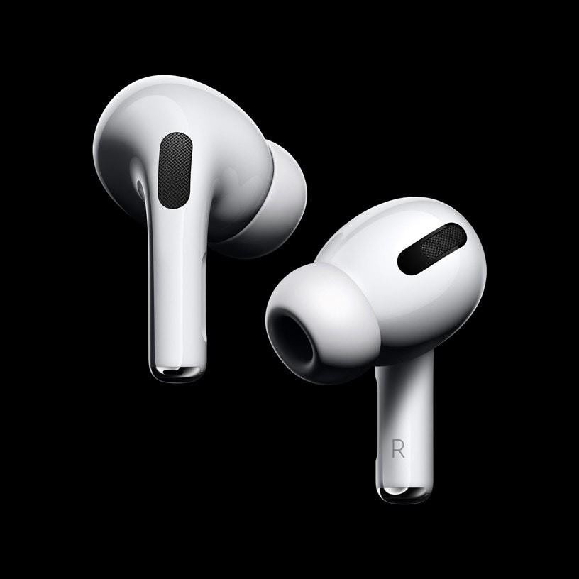 照片中包含了AirPods Pro、AirPods Pro、蘋果AirPods、蘋果、主動噪音控制