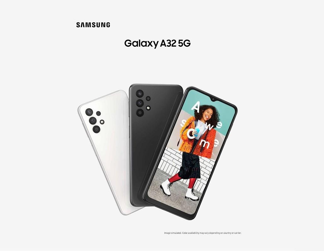 照片中提到了SAMSUNG、Galaxy A32 5G、A,跟公羊卡車有關,包含了銀河a32、三星Galaxy S系列、三星、手機、安卓系統