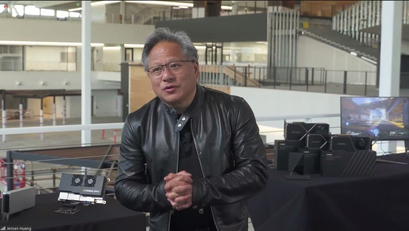 照片中提到了nvIIADRE、ull Jensen Huang,包含了車輛、黃健森、英偉達、2021 台北國際電腦展、台積電