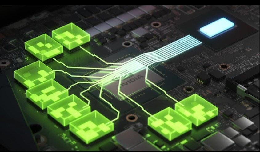 照片中提到了VIDIA,包含了大小調整欄、NVIDIA GeForce RTX 3060 Ti、英偉達、GeForce 30系列、PCI Express