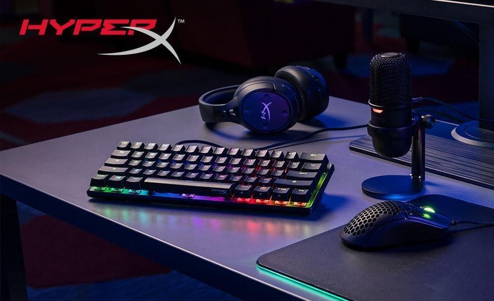 照片中提到了HYPER、TM,包含了hyperx起源60%、計算機鍵盤、HyperX合金的起源60、HyperX合金的起源、遊戲鍵盤