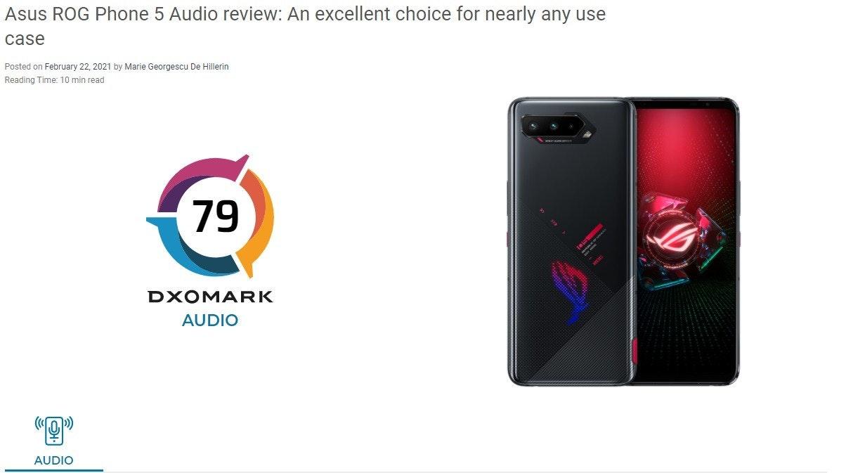照片中提到了Asus ROG Phone 5 Audio review: An excellent choice for nearly any use、case、Posted on February 22, 2021 by Marie Georgescu De Hillerin,跟華碩有關,包含了手機、索尼Xperia 1 II、ROG電話、手機、安卓系統