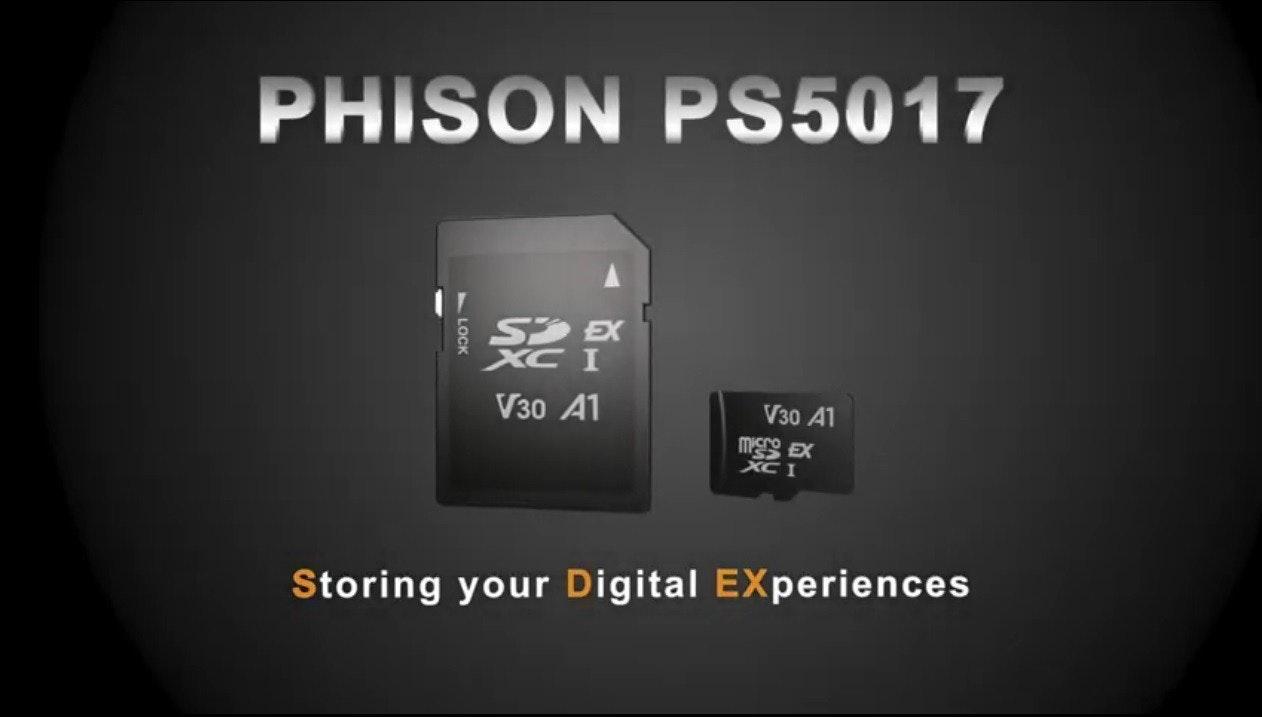 照片中提到了PHISON PS5017、S EX、XC I,包含了數碼相機、產品設計、產品、牌、電子產品