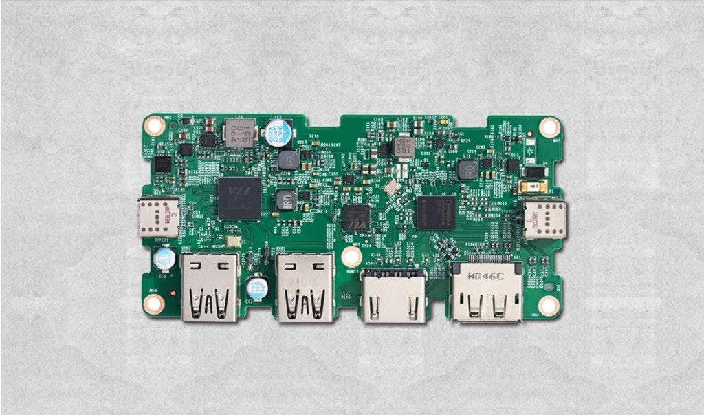 照片中提到了.、HO 46C、1TA,包含了電子零件、電子產品、USB4、威盛電子股份有限公司、威盛實驗室