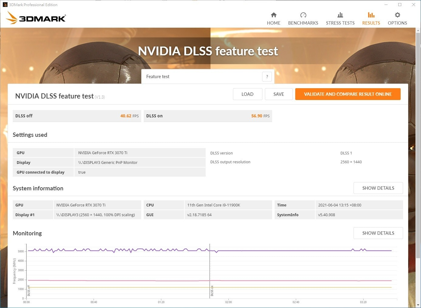 The photos mentioned 3DMark Professional Edition, 3DMARK, НОМЕ, including graphics cards, NVIDIA GeForce RTX 3070, computers, ASUS, NVIDIA