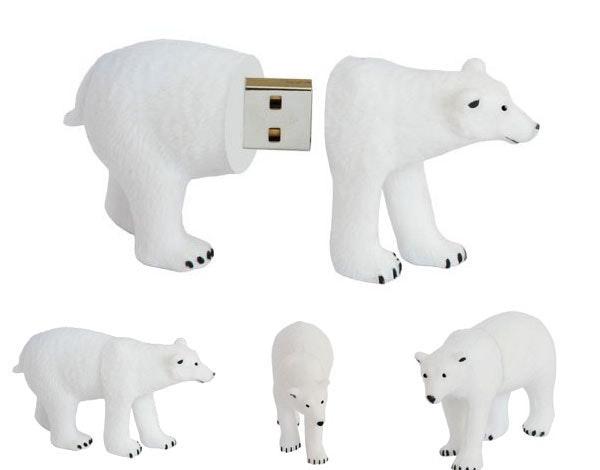 是還是擺在電腦旁「惜惜」就好的北極熊隨身碟...這篇文章的首圖
