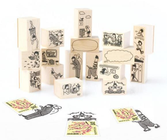 是專為郵票設計的木製印章設計這篇文章的首圖