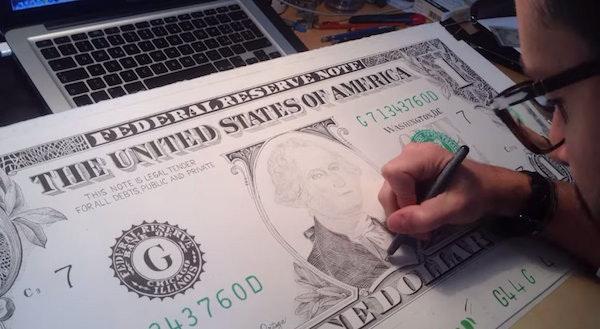 是『警察先生!就是這個人!』超強手繪偽鈔藝術這篇文章的首圖