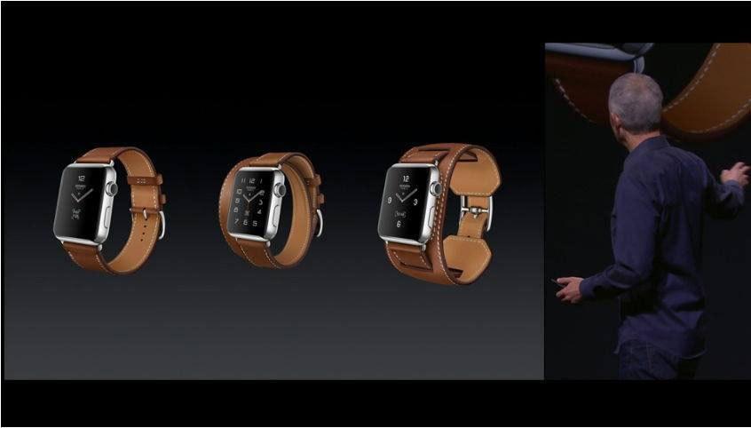 是Apple Watch 與愛馬仕合作推出皮革錶帶,運動系列則多了粉紅色錶殼(心)這篇文章的首圖