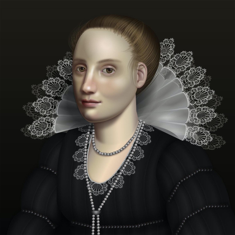 照片中包含了美女、級聯樣式表、CSS框架、肖像、繪畫