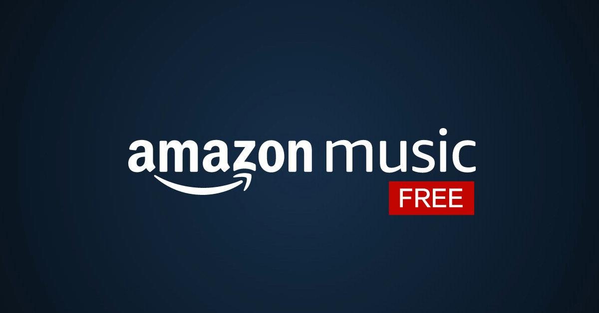 照片中提到了amazon music、FREE,跟亞馬孫有關,包含了亞馬遜音樂、商標、牌、牆紙、產品設計