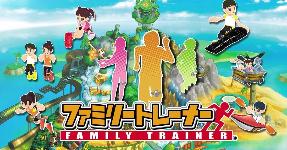 照片中提到了FAMI LY TR AINER .,包含了動畫片、萬代南夢宮、守望先鋒、龍珠鬥士Z、任天堂Switch