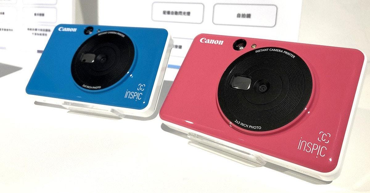 照片中提到了INSTANT CAMERA PRINTER、Canon、Canon,包含了電子產品、電子產品、佳能iNSPiC、佳能、相機