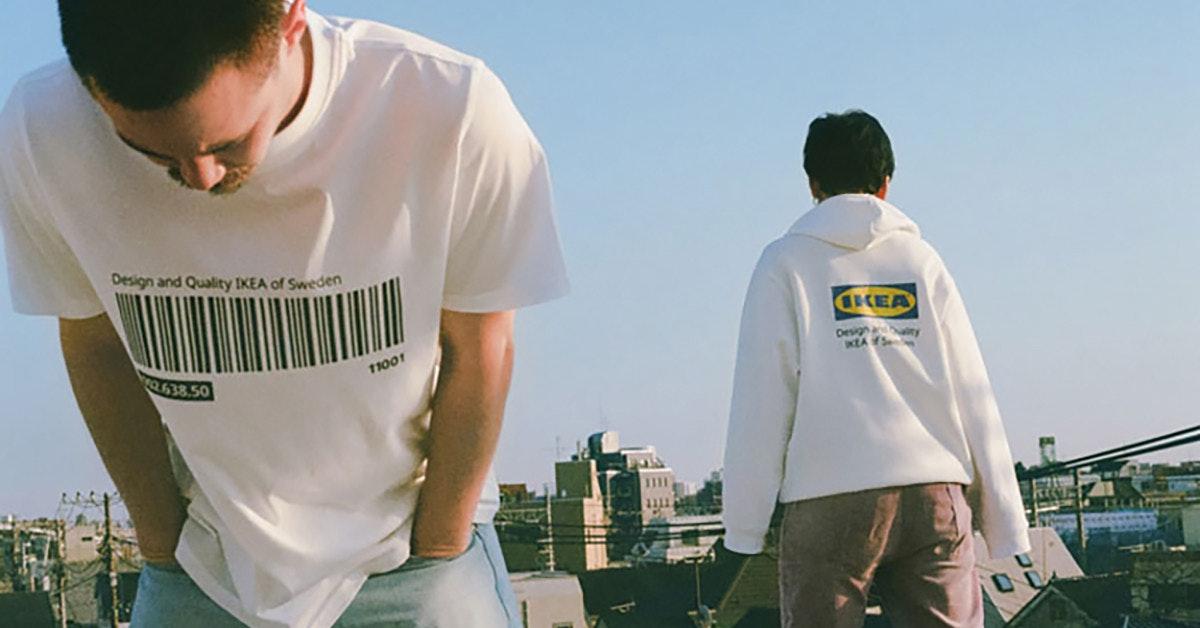 照片中提到了Design and Quality IKEA of Sweden、KEA、pesig y,跟宜家有關,包含了T卹、T恤衫、服裝、連帽衫、優衣庫