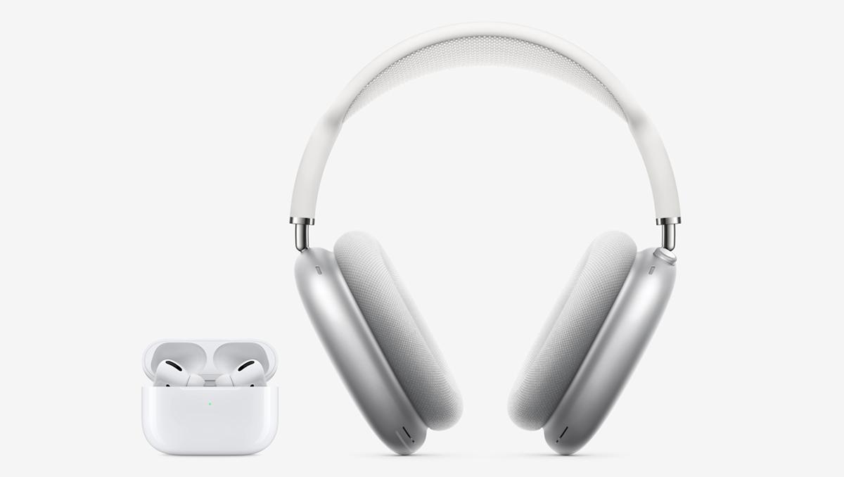 照片中包含了蘋果 airpods max 耳罩式、蘋果AirPods Max、AirPods Pro、AirPods Max、蘋果