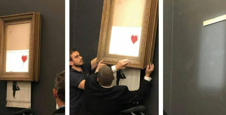 Banksy, Painting, , Sotheby's, Art, Artist, , , Auction, Street art, Painting, window