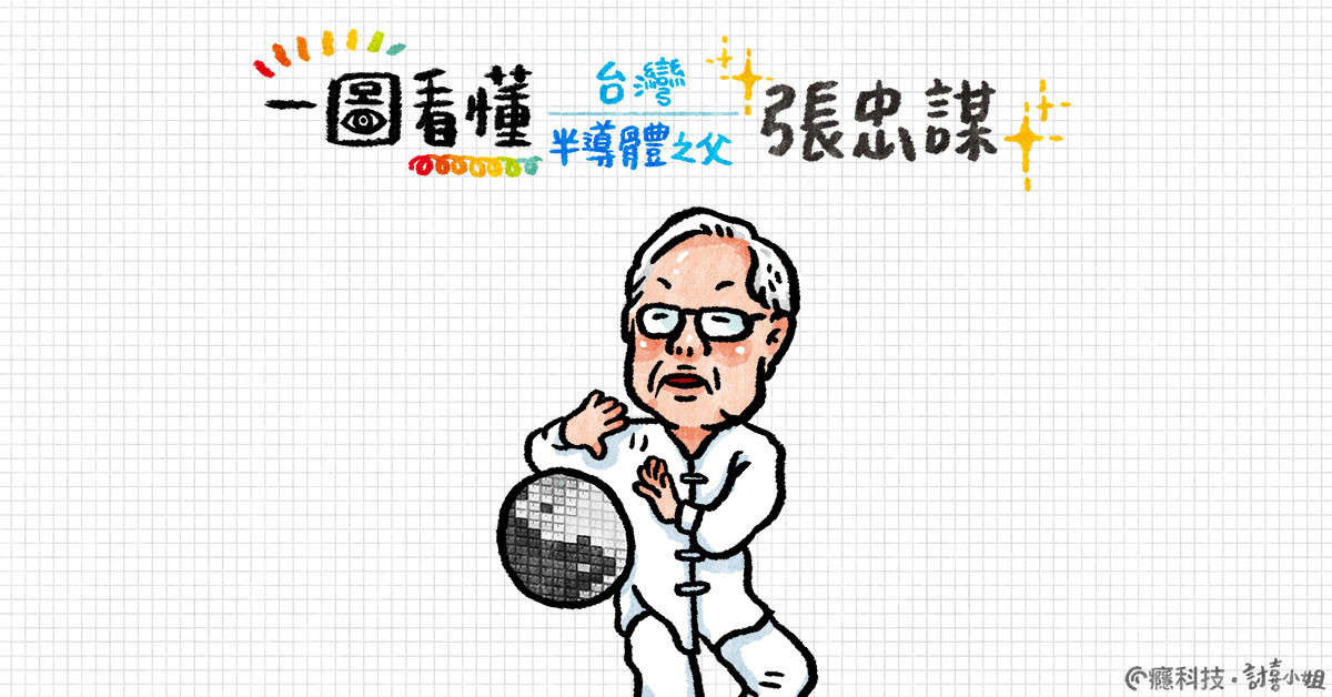 Morris Chang, , TSMC, Taiwan, Chief Officer, Chairman of the Board of Directors, Semiconductor, 瘾科技, 3奈米製程, , 張忠謀 q 版, Cartoon, Text, Font, Illustration, Art