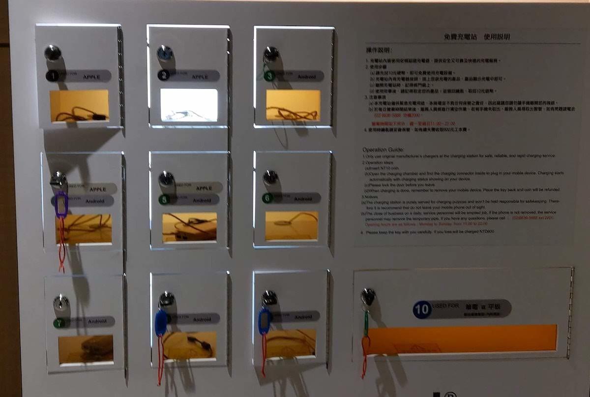 台北文創松菸誠品有連筆電都可以充電的免費充電站