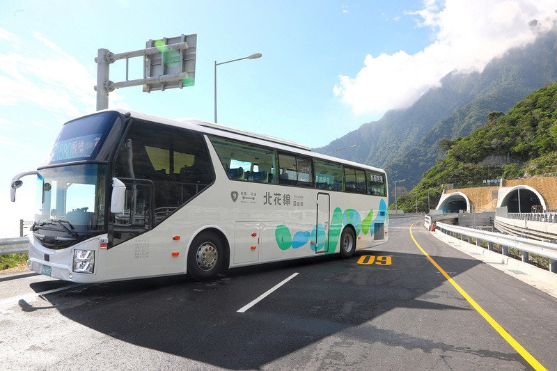 照片中提到了北花線,包含了旅遊巴士服務、總線、旅遊巴士服務、花蓮縣、蘇化高速公路改建工程