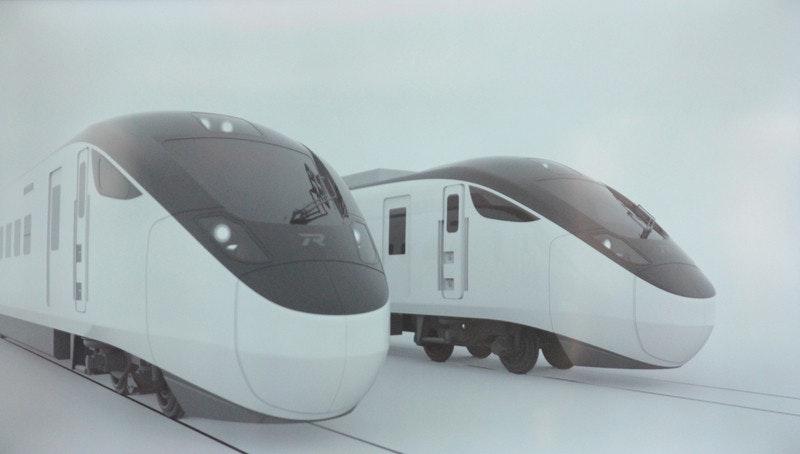 照片中包含了高速火車、花蓮火車站、培養、台東線、台灣鐵道局