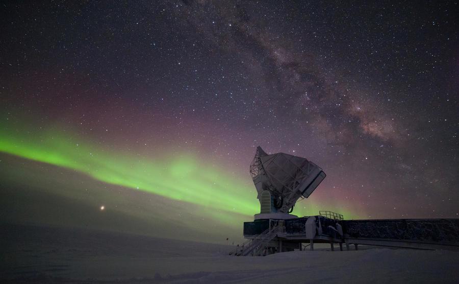 Event Horizon Telescope, Telescope, Black hole, South Pole Telescope, Observation, South Pole, Astronomy, Event horizon, Astronaut, , nature, Aurora, Sky, Atmosphere, Space, Night, Landscape, Star