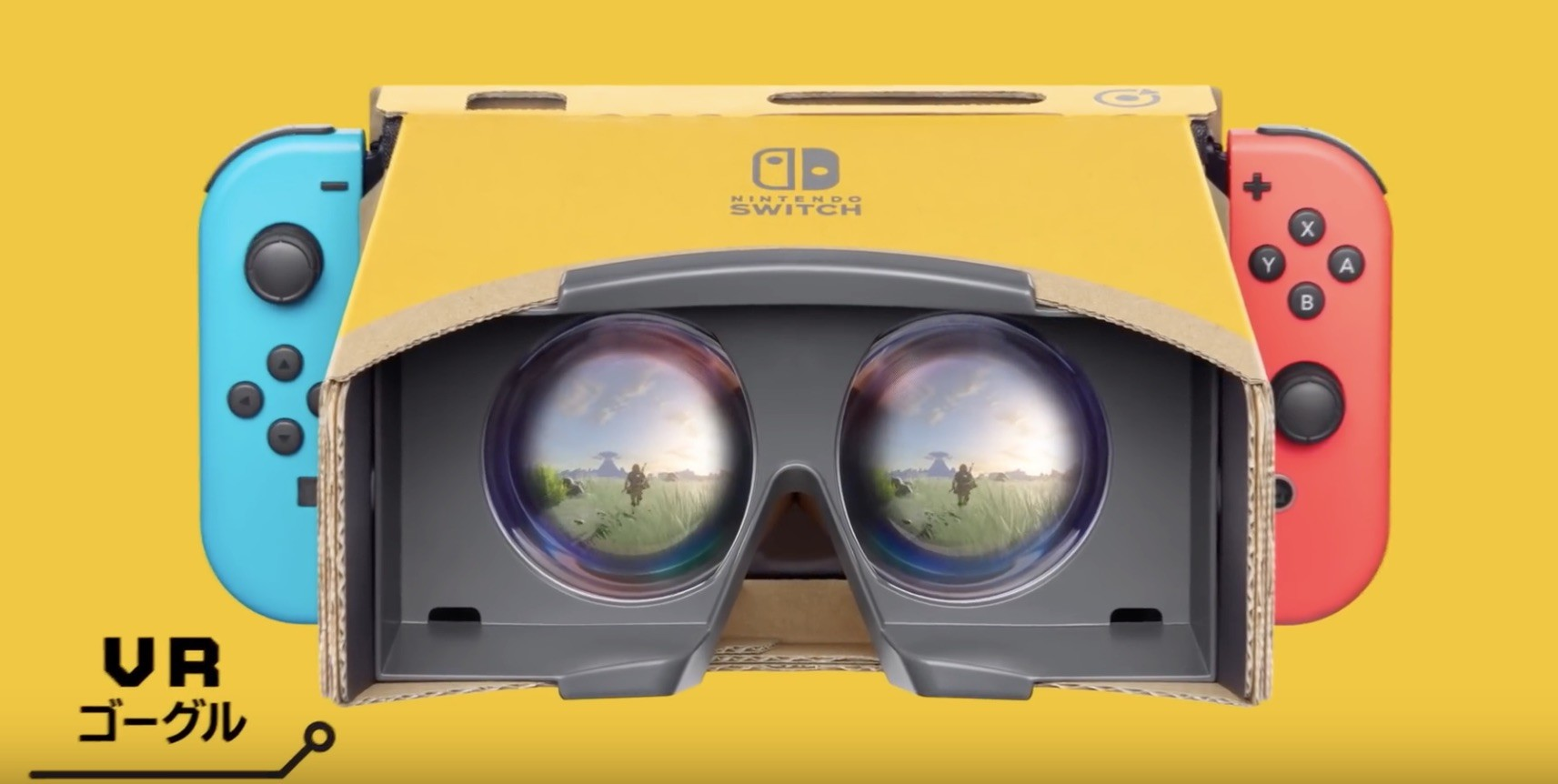 Nintendo Labo, Nintendo Switch, Virtual reality, Video Games, Nintendo, , Virtual reality headset, PlayStation VR, , Nintendo Labo VR Kit, vr labo, Personal protective equipment, Glasses, Goggles, Yellow, Eyewear, Technology, Electronic device