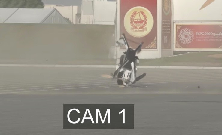 照片中提到了EXPO 2020 gus、CAM 1,跟路透社有關,包含了迪拜警察、迪拜警察部隊、Hoverbike、迪拜、警察暴行