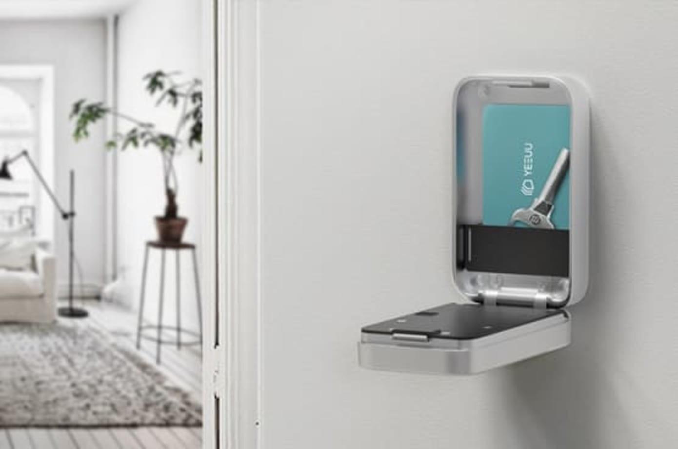 照片中提到了O YEEUU,包含了老式公寓、智能鎖、室內設計服務、家具類、門