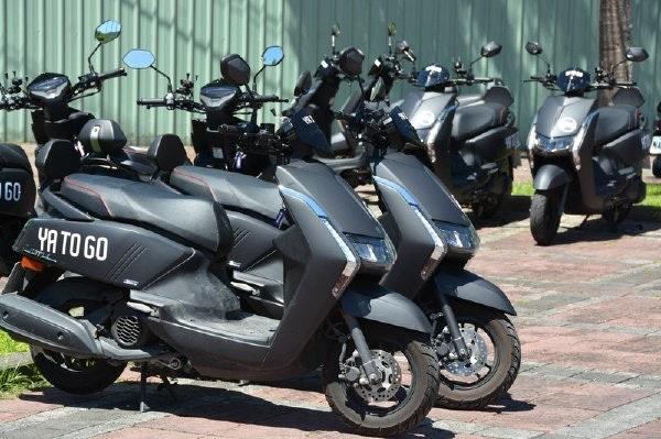 照片中提到了60、YA TO GO,包含了摩托車、摩托車、花蓮市、摩托車、WeMo踏板車