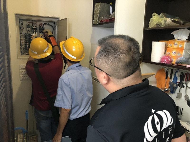 照片中提到了IIF,跟路德會世界救濟會有關,包含了台灣電力公司、頭份、豐田:6159、電力、新台幣